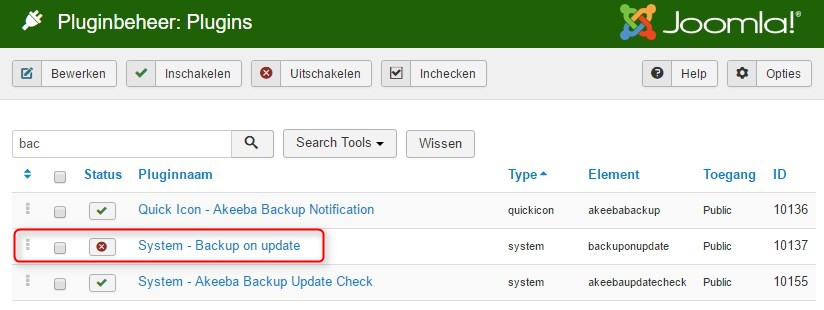 System Plugin BackupOnUpdate