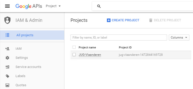 GoogleAPI IAM Admin AllProjects