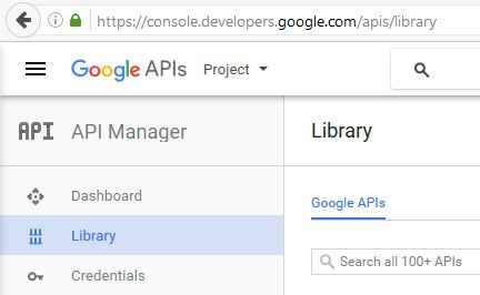 GoogleAPI Manager Library 0