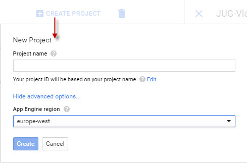 GoogleAPI ProjectCreate